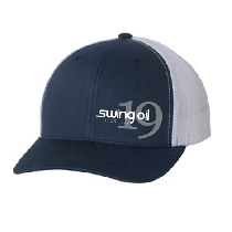 Retro Trucker 2-Tone hat with Swing Oil Beer Company logo on the left side