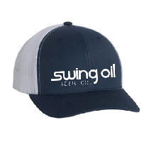Retro Trucker 2-Tone hat with Swing Oil Beer Company logo across