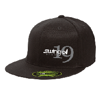 Black Flatbill hat with Swing Oil Beer Company logo on the left